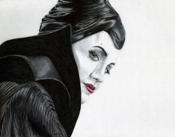 Ballpoint Maleficent by Cindy-R