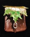 Leather Leaf feywild belt pouch by lilibat