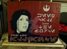 Che-Leia on Wood by fireforgegrafx