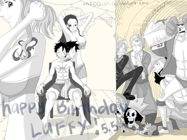 The 'It might change him' gift for captain Luffy by GinLN