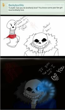 Ask Papyrus and Sans 1 by RandomSatanist