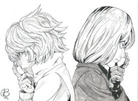 Near and Mello - Death Note by Elrick87