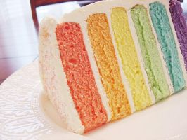 rainbow cake by suki-mizu