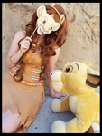 (TLK) Nala with her Crush, Simba! (Cosplay) by KrazyKari