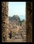 View From The Fortify Of Corfu by skarzynscy