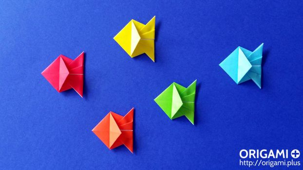Origami fishes (original fish model) by origamiplus