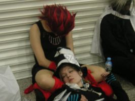 London expo-Axel + Demyx sleep by OrgXIII-Namine