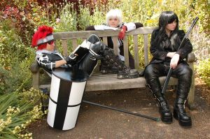 Lavi, Allen and Kanda relax by KellyJane