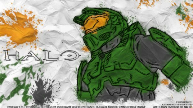 [ Master Chief ] - [ HD Wallpaper ] by PokeTheCactus