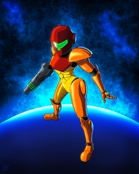 Samus Aran by Beast-of-the-Forest