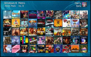 Windows 8 Metro Aicon Pack 8 by HarryBana