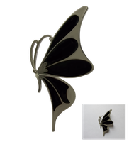 Black and gold butterfly broach png by Birdsatalcatraz