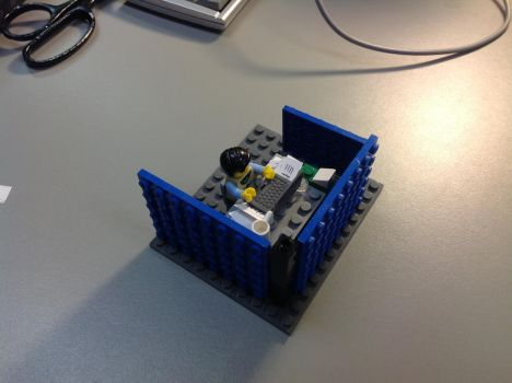 Lego Cubicle by terryxross