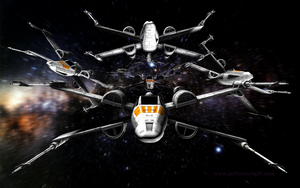 X-Wing Proto Squadron Print by JefferyWright