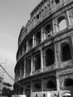 Colliseum black and white by black-martin