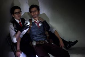 The Evil Within cosplay Joseb Sebastian and Joseph by LadyofRohan87