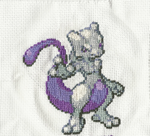 Mew 2 Crosstitch by kisshu01