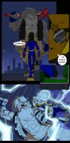 Shred vs. Voltage comic by Aeolus06