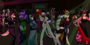 halloween dance party by keeper-of-vilya