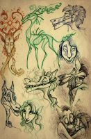 Creatures of various realms II by TheTundraGhost