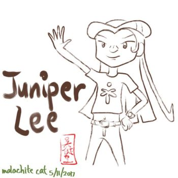 Juniper Lee ink by malachitecat