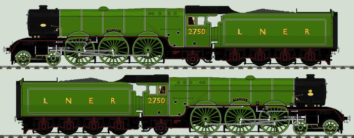 LNER A1 liveries - 2750 'Papyrus' by 2509-Silverlink