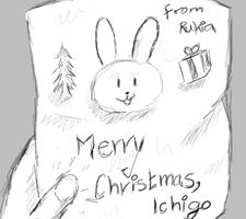 Christmas letter, quick drawing by Ahrifox