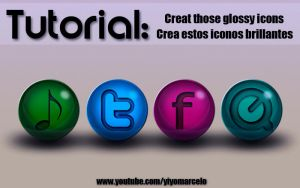 GLOSSY ICONS / ICONOS BRILLANTES by yiyo-marcelo