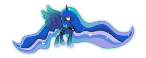 Princess Luna Rainbow power by aqua-pony