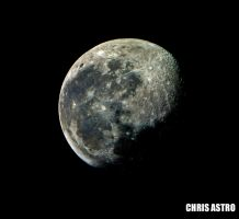WAXING GIBBOUS MOON by ChrisAstro102