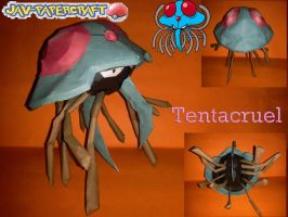 pokemon tentacruel papercraft by javierini