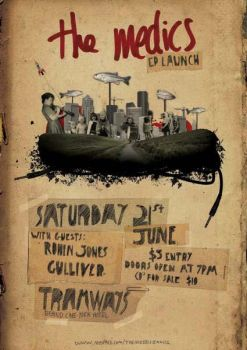 the medics - CD Launch poster by saggers