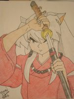 Inuyasha unsheaths by Dante-son