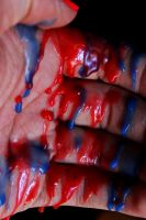 Blue and Red Spill by AgatsumaSoubisan