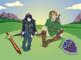 Commission - Link x Lucina by yinza