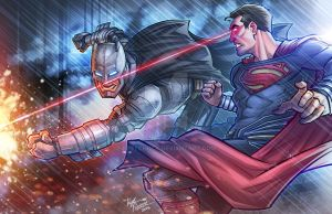 Batman V Superman Clash by kpetchock