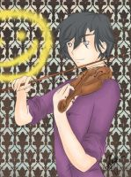 Sherlock on his Violin by IridescentAngel