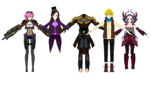 (MMDxLeague Of Legends) WIPS AND NAE 2.0 by naruchan101