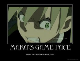 Maka's Game Face by Kilama