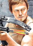 Daryl Dixon - The Walking Dead - Sketch Card by Dr-Horrible