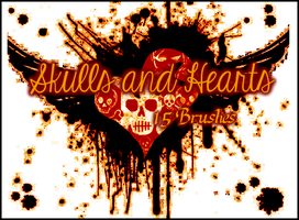Skulls and Hearts Set by Illyera