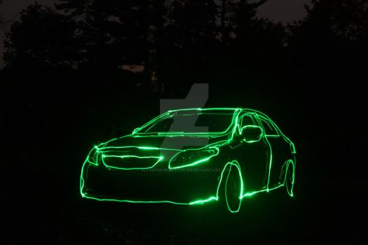 Car Outline by searchmysoulforfire