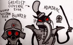 Admiral And Bunker Doodle by FierceTheBandit