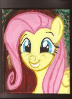 fluttershy at her front door by Pwnyville