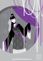 Gothic-ish Chinese Lady 2 by skullyan