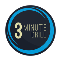 3 Minute Drill Logo (W/O Stars) by smcveigh92