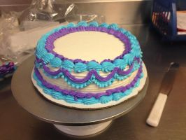 Purple and Blue ruffle by Crosseyed-Cupcake
