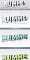 3D Render of a Summer Word by idesignstudio