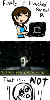 GLaDOS is not normal by snowsuper123