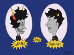 Gamzee and Karkat by yorikitsune